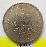 Moneda 5 Franci - Franta, anul 1972 *cod 1723