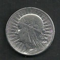 POLONIA 2 ZLOTI ZLOTE 1932, Ag 4.30 g [1] Regina Jadwiga, Livrare in cartonas, Europa, Argint