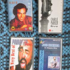 JULIO IGLESIAS / CHARLIE PARKER / PAVAROTTI /JOE COCKER - 4 CASETE AUDIO CA NOI!