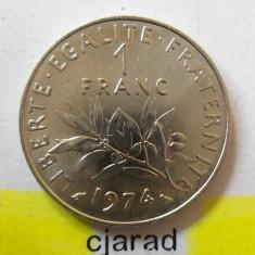 Moneda 1 Franc - Franta, 1974 *cod 1711, Europa