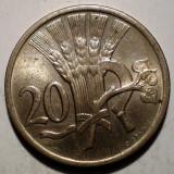 1.606 CEHOSLOVACIA 20 HALERU 1937 XF/AUNC, Europa