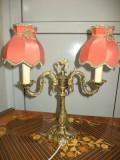 Superb lampadar ,sfesnic din bronz masiv piesa antica ,perfect functionala