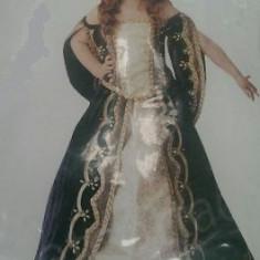 Rochie Regina pt fete 4-12 ani - Costum carnaval, Marime: S, M, L, Culoare: Din imagine