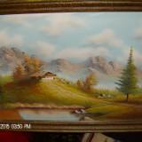 Tablou peisaj original frumos - Pictor strain, Peisaje, Ulei, Impresionism