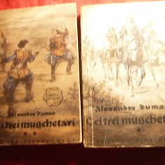 Al.Dumas -Cei Trei Muschetari Ed.1956 Ed.Tineretului 2 vol., trad.T.Archip