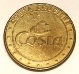 G5. JETON CAZINO VAS CROAZIERA COSTA CROCIERE GAMING TOKEN, BRONZ, 25 mm **