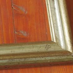 Rama din lemn pentru tablou fotografii sau oglinda cu patina argint si aur !!!
