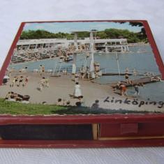 Patru cutii suedeze de chibrite din orasul Linkoping, anii 1960