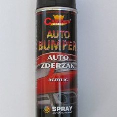 Spray Negru Mat pentru bari si bord Profesional CHAMPION 500ml - Vopsea auto