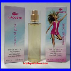 TESTER FIOLA DAMA LACOSTE TOUCH OF PINK 40ML - Parfum femeie Lacoste, Apa de toaleta