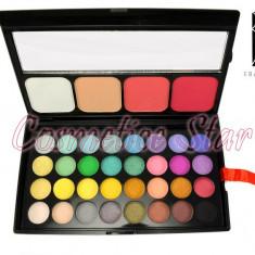 Trusa Farduri 36 culori fard cu blush si pudra Fraulein38 - Trusa make up