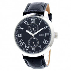 Ceas barbatesc Guess Men's Watch W85043G1, Elegant, Quartz, Inox, Piele, Data