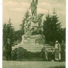 2818 - Gorj, TARGU-JIU, statue T. Vladimirescu - old postcard - unused - Carte Postala Oltenia 1904-1918, Circulata, Printata