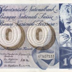 ELVETIA 100 francs 1965 VF+!!!
