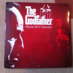 GODFATHER Official Calendar 2011 movie film cinema Nasul Marlon Brando hobby - Calendar colectie