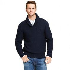 Bluza TOMMY HILFIGER - Pulover, Bluze Barbati - 100% AUTENTIC - Bluza barbati Tommy Hilfiger, Marime: M, Culoare: Bleumarin, Bumbac