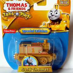Limited ✯ Special Edition ✯ Rare Take-n-Play ✯ GOLD Thomas ✯ 70th ANNIVERSARY ✯ - Trenulet Fisher Price, Metal, Unisex