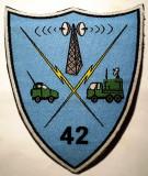 5.485 ROMANIA ECUSON MILITAR ARMATA REGIMENTUL 42 TRANSMISIUNI RASNOV/BRASOV