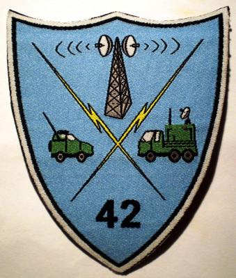 5.485 ROMANIA ECUSON MILITAR ARMATA REGIMENTUL 42 TRANSMISIUNI RASNOV/BRASOV foto