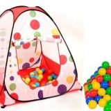 Cort de joaca copii cu 60 de bile - Casuta copii