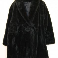 Haina blana artificiala femei, Marime: L, Culoare: Negru