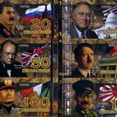 CLUB DE LA MONEDA-LOT LIDERI WW2- COMM- POLYMER- UNC!! - bancnota america