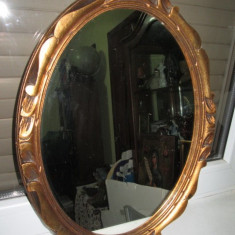 Rama cu Oglinda veche franceza din lemn aurit in patina originala. Perioada 1900