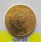 Moneda 5 Centi - Cipru 1988 *cod 1815, Europa