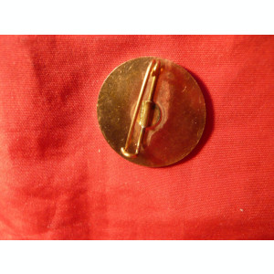 Insigna -A 40a Promotie -Academia Tehnica Militara ,metal aurit  d=2,5 cm