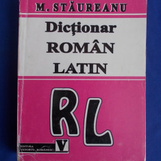 M. STAUREANU - DICTIONAR ROMAN-LATIN - 1996