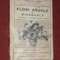 N. IACOBI - FLORI ANUALE SI BISANUALE - CULTURA SI INTREBUINTAREA LOR - 1932 - Carte gradinarit