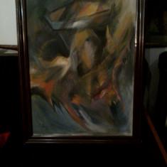 """PVM - Tablou """"Arta Moderna"""" ulei pe carton semnat I. Streinu '98 (1)"""