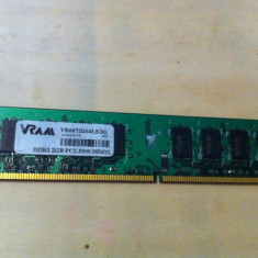 Memorie RAM desktop Vram VR667D264L5/2G DDR2 667MHz 2GB, 1 GB