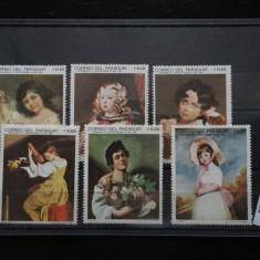 Arta-Portrete-Serie timbre stampilate-Correo Del Paraguay #665
