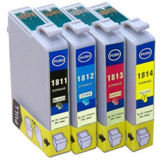 Set 4 Cartuse imprimanta Epson 18XL, T1815 ( T1811 + T1812 + T1813 + T1814 ) compatibile. - Cartus imprimanta