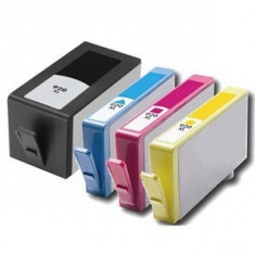 Set 4 cartuse imprimanta HP 920XL Black, Cyan, Magenta, Yellow, compatibile - Cartus imprimanta