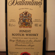 R A R E whisky ballantines, cl 70 gr 40 ani 70/80
