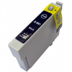 Cartus Epson T0801 compatibil negru de capacitate mare - Cartus imprimanta