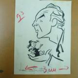 Neagu Radulescu caricatura Laurentiu Fulga - Pictor roman, Portrete, Cerneala, Altul