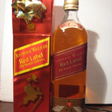 whisky  johnnie walker, red label, box with 3 icons 2, cl 70