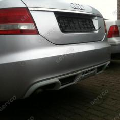 Prelungire difuzor bara spate Audi A6 C6 4F 2004 2008 ABT Sline RS6 S6 ver2 - Prelungire bara spate tuning, A6 (4F2, C6) - [2004 - 2011]