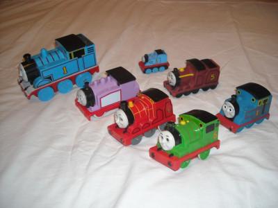 TOMY - Locomotivele Thomas, Percy, Rosie si James foto