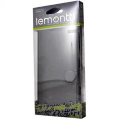 Husa originala Lemontti Alcatel Pop C3 - Husa Telefon Lemontti, Negru, Cu clapeta