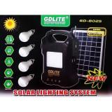 Set panou solar cu 4 becuri si radio FM Gdlite GD-8025