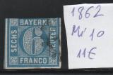Cumpara ieftin Bayern - timbru stampilat - Mi. nr.: 10 - 1862 - albastru deschis