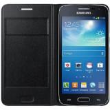Husa originala Samsung Galaxy Core 4G G386F EF-WG386BBEGEU + bonus, Negru, Piele