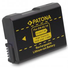 PATONA | Acumulator compatibil Nikon EN-EL14 ENEL14 Infochip | 1030mAh - Baterie Aparat foto PATONA, Dedicat
