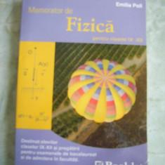 Memorator de fizica pentru clasele IX-XII