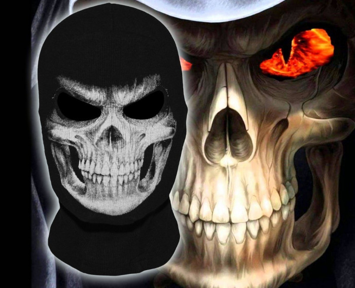 Masca Cagula Grim Reaper Skull Ghost ski snowboard motor party Halloween +CADOU!