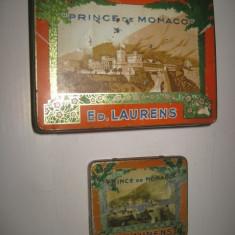 CUTII TIGARETE vechi1. Cutii metal pereche Prince de Monaco Ed Laurentis ca 1930